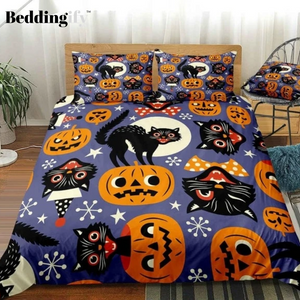 Halloween Black Cats Bedding Set