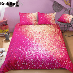 Red Mermaid Scale Bedding Set - Beddingify