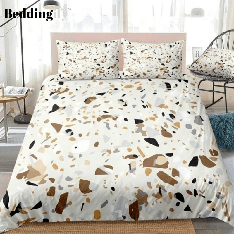 Brown Marble Bedding Set - Beddingify