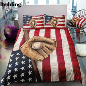 Baseball Flag Bedding Set