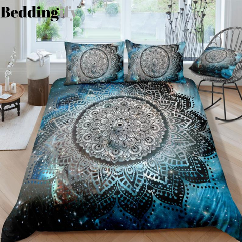 Galaxy Mandala Pattern Bedding Set - Beddingify