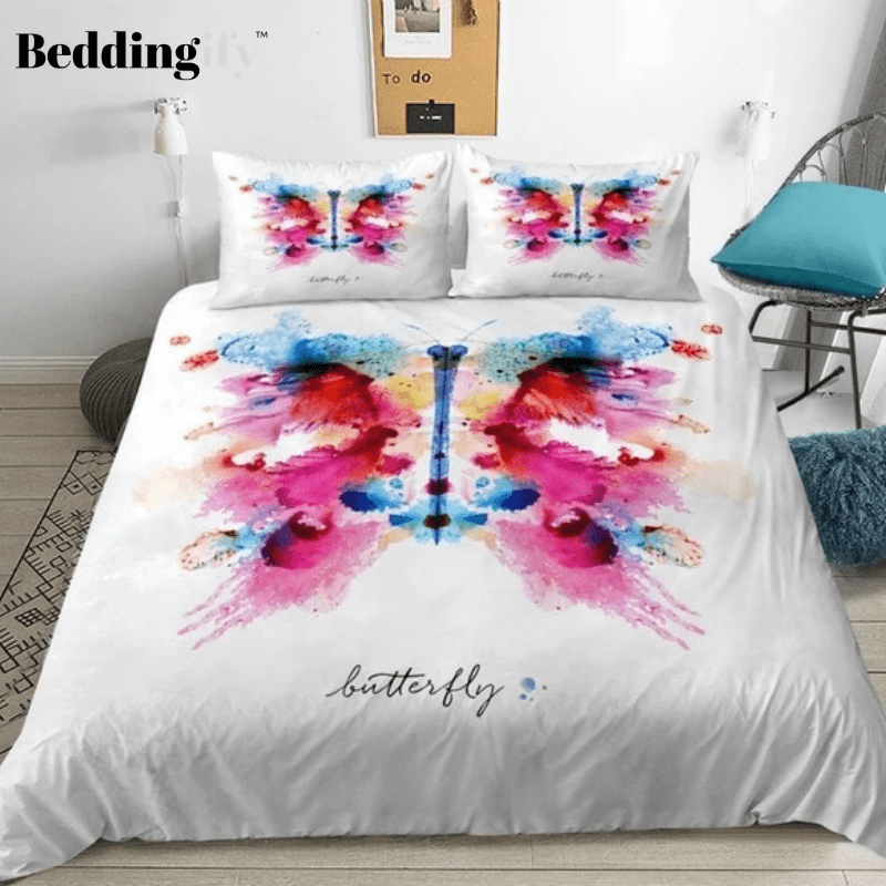 Colored Butterfly Bedding Set - Beddingify