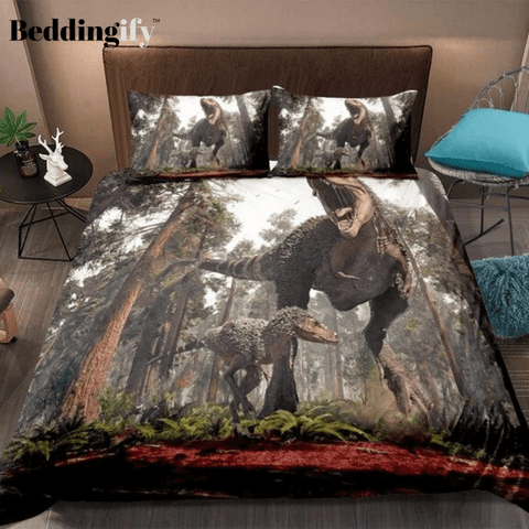 Image of 3D Tyrannosaurus Rex Bedding Set - Beddingify