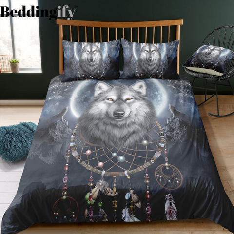 Image of Mystic Wolf Dreamcatcher Bedding Set - Beddingify