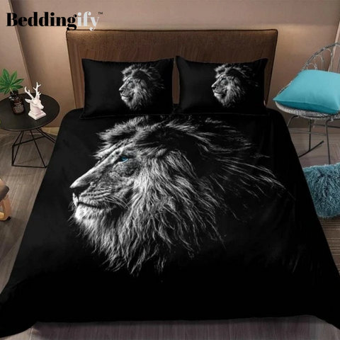 Black Lion Pattern Bedding Set - Beddingify
