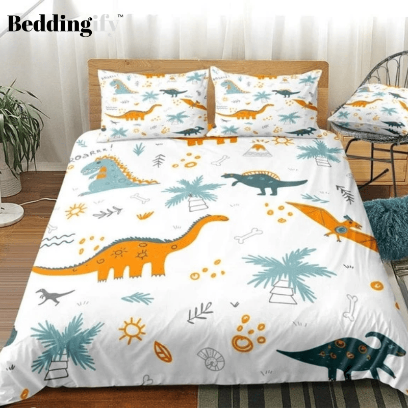 Cartoon Dinosaur Bedding Set - Beddingify