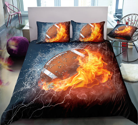 Flame American Football Bedding Set - Beddingify