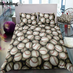 Baseballs Bedding Set