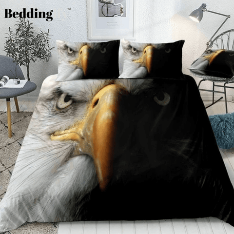 Black and White Eagle Bedding Set - Beddingify