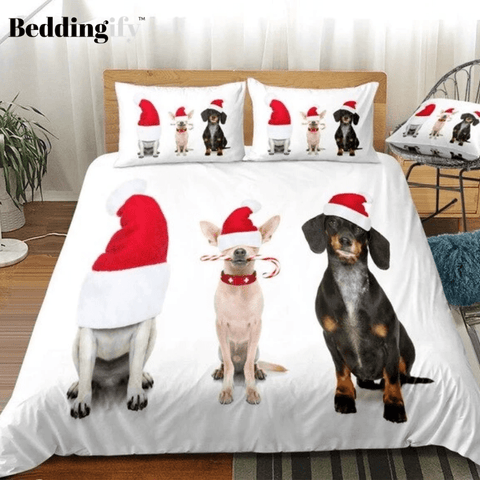 Image of Christmas Dog Bedding Set - Beddingify