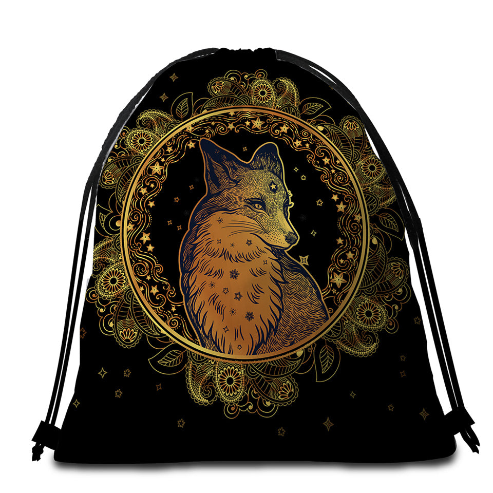 Fox Grace Regal Round Beach Towel Set - Beddingify