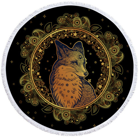 Image of Fox Grace Regal Round Beach Towel Set - Beddingify