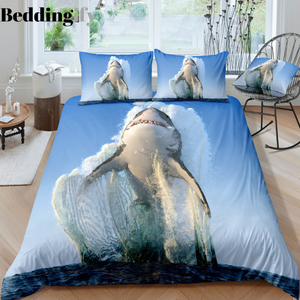 Flying Shark Bedding Set - Beddingify