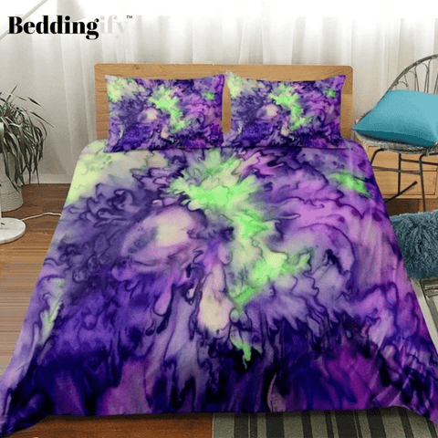 Image of Tie-dyed Splashing Bedding Set - Beddingify