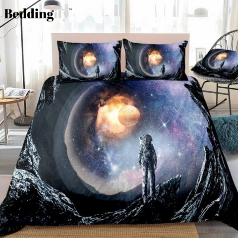 3D Astronaut Outer Space Bedding Set