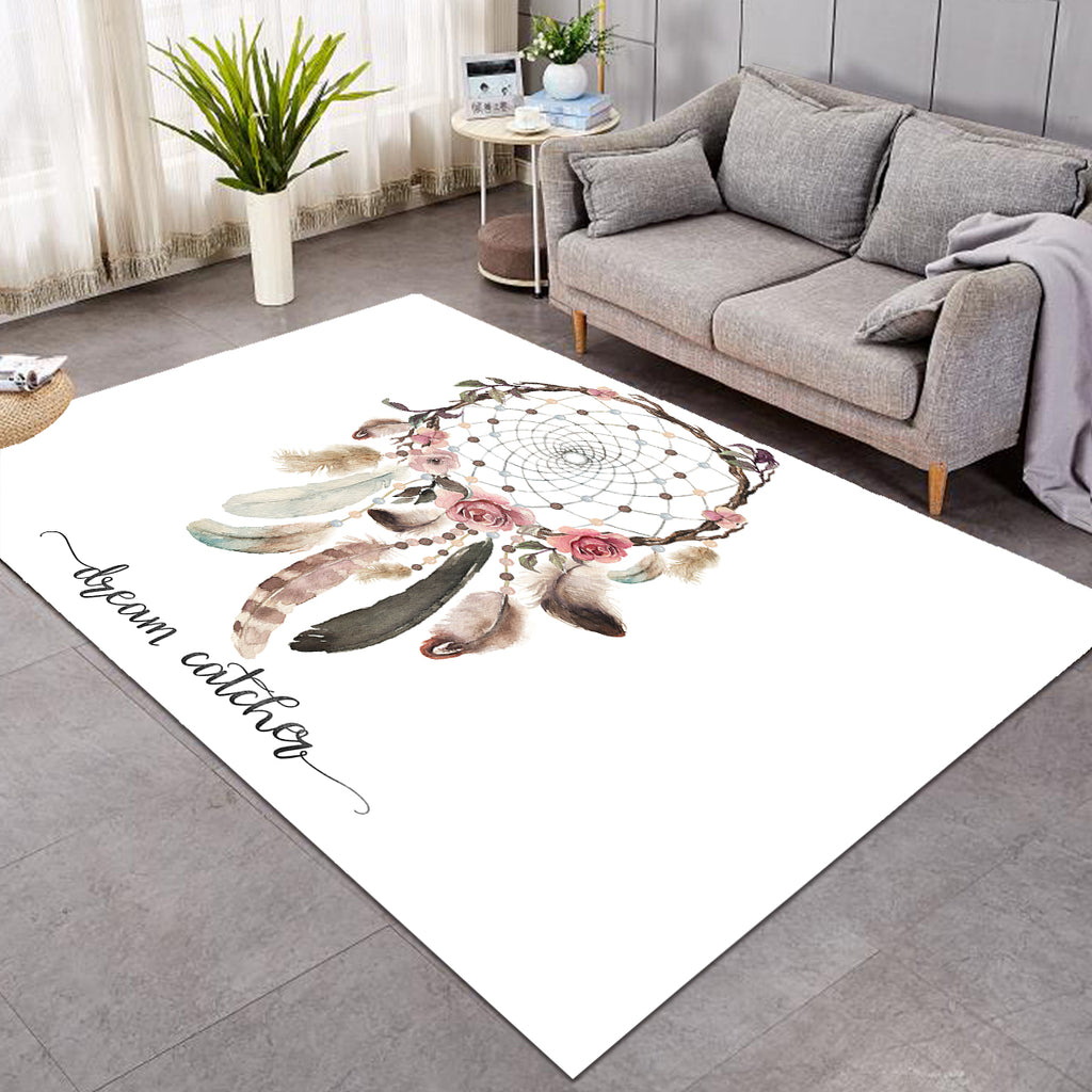 Feathery Spiral Dreamcatcher SW0864 Rug