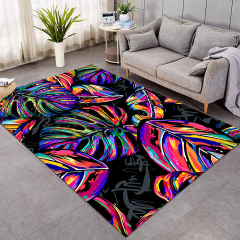Image of Multicolored Palm Leaves SW0504 Rug