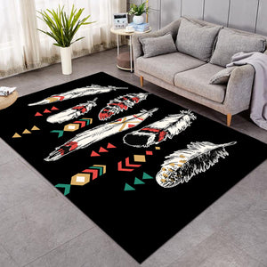 Aztec Feathers Black SW0448 Rug