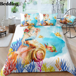 Corals and Mermaid Bedding Set - Beddingify