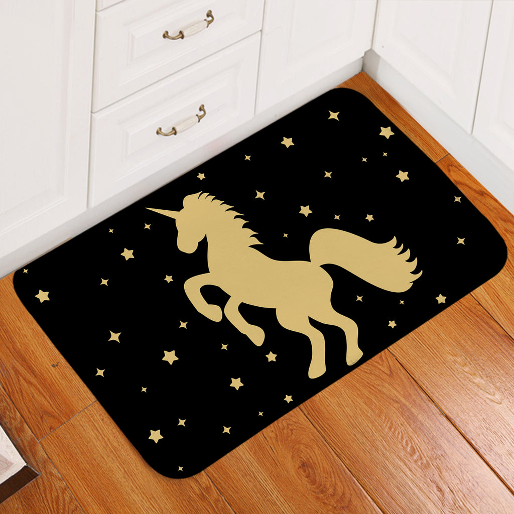 Prancing Unicorn Starry Door Mat