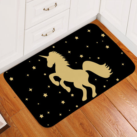 Image of Prancing Unicorn Starry Door Mat