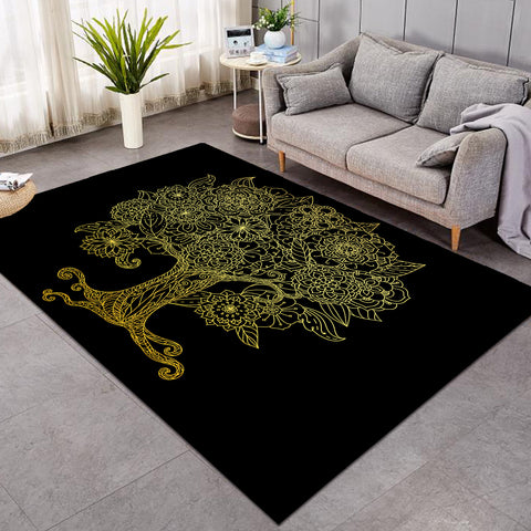Image of Tree Of Life Black SW0631 Rug