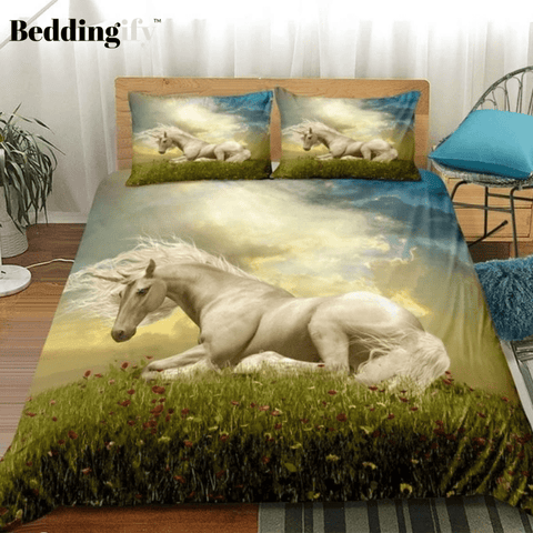 Image of Grassland Sky Unicorn Bedding Sets - Beddingify