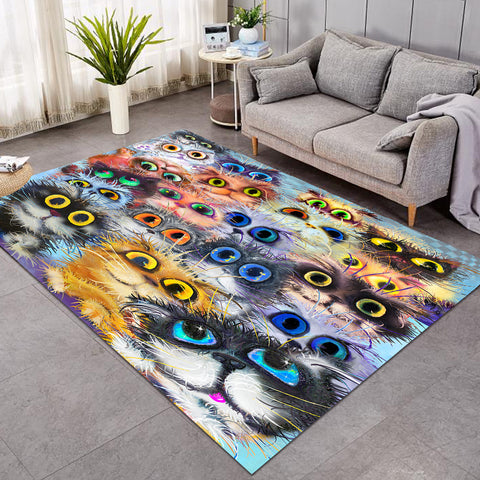 Image of Staring Cat Eyes SW0096 Rug