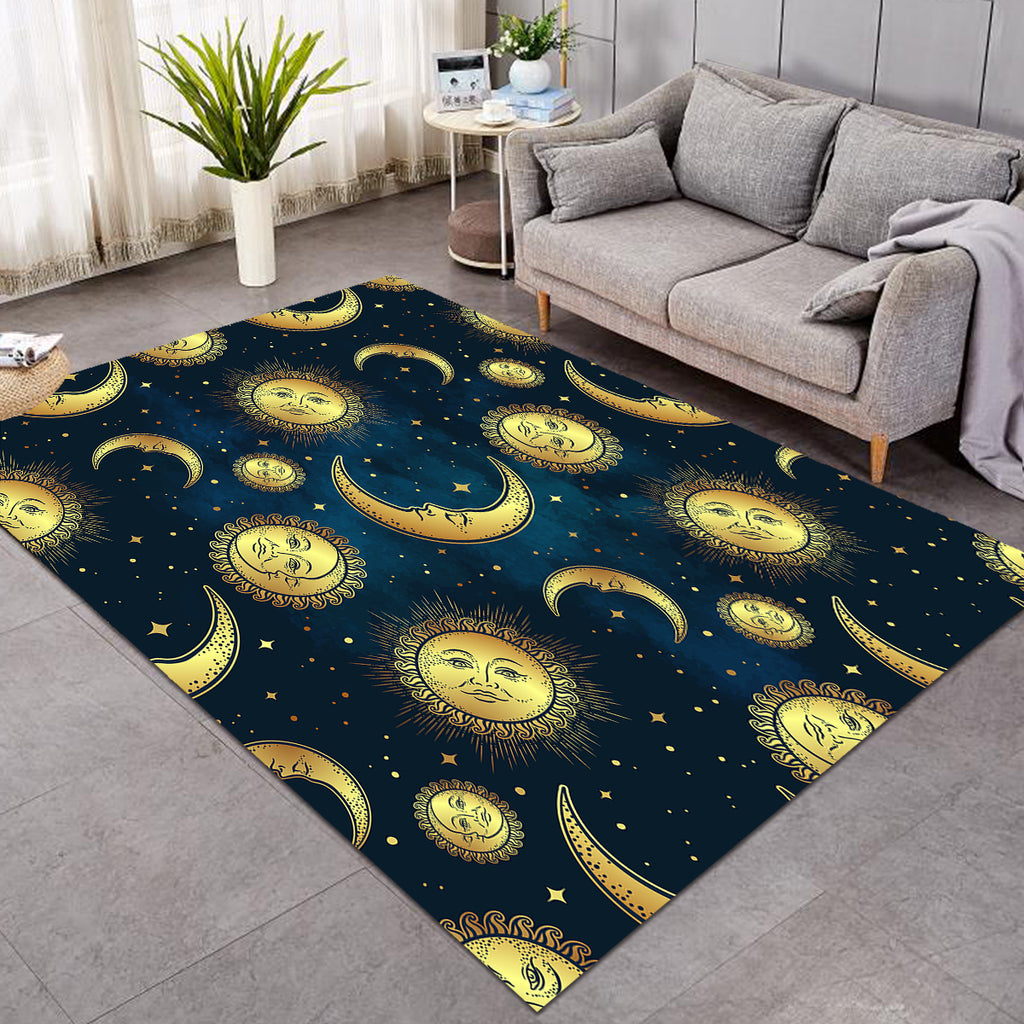 Moon & Sun Patterns Space SW0055 Rug