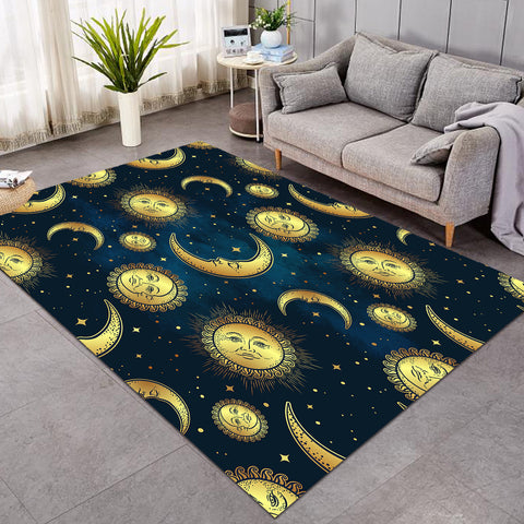 Image of Moon & Sun Patterns Space SW0055 Rug