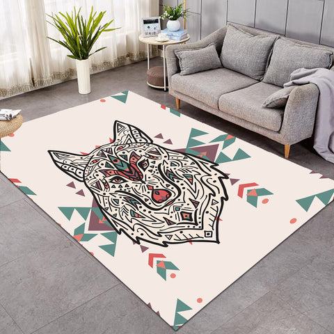 Image of Aztec Wolf Geometry SW0022 Rug