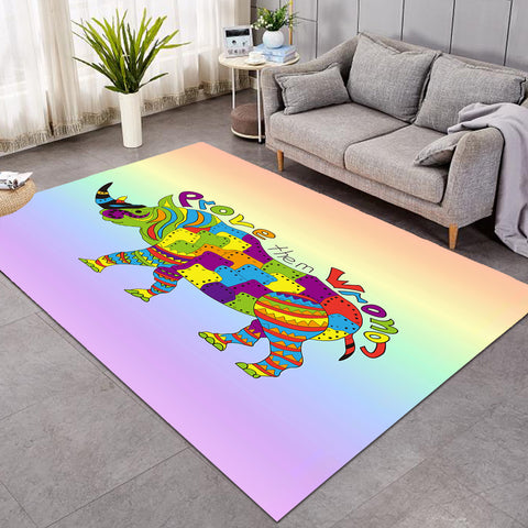 Image of Prove Them Wrong Rhino SW0859 Rug