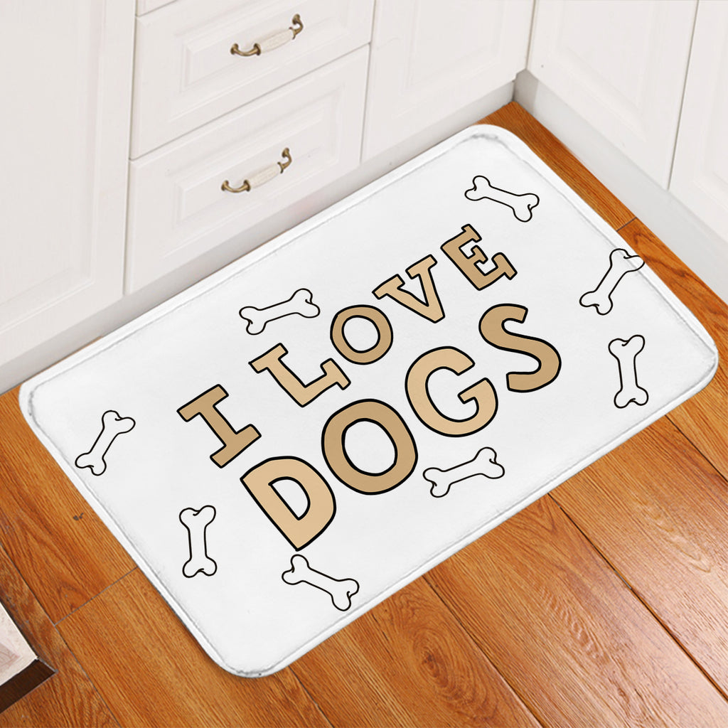 I Love Dogs Door Mat