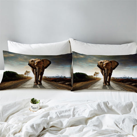 Image of 3D African Elephant Pillowcase
