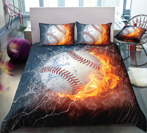 Flame Baseball Bedding Set - Beddingify