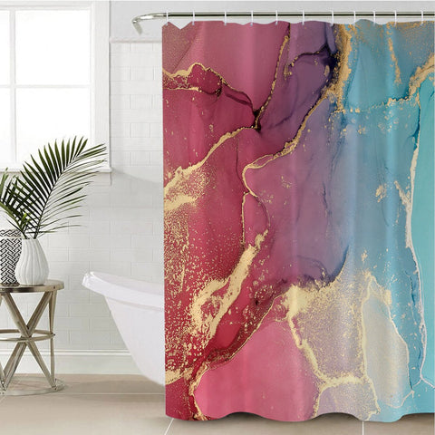 Image of Sandy Color Spectrum Shower Curtain