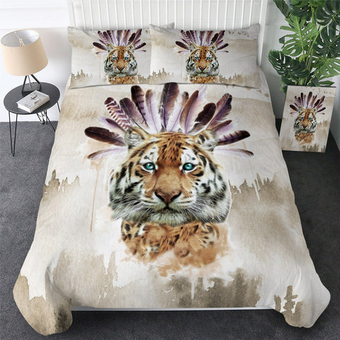 Image of Tribal Tiger Bedding Set - Beddingify