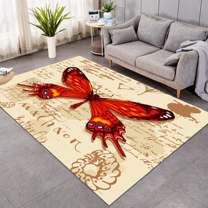Machaon Butterfly Letter SW1558 Rug