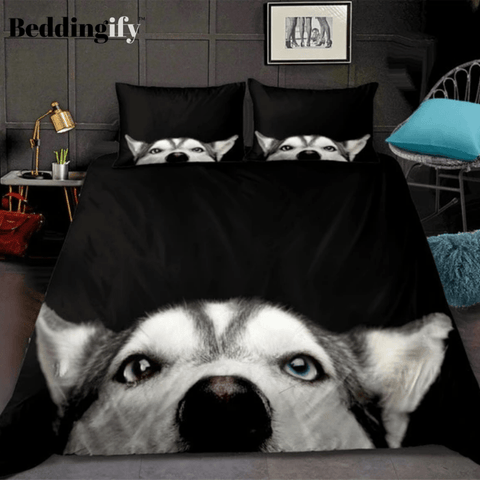Husky Bed Line Black Bedding Set - Beddingify