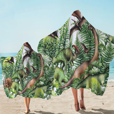 Image of Mesozoic Zoo Hooded Towel