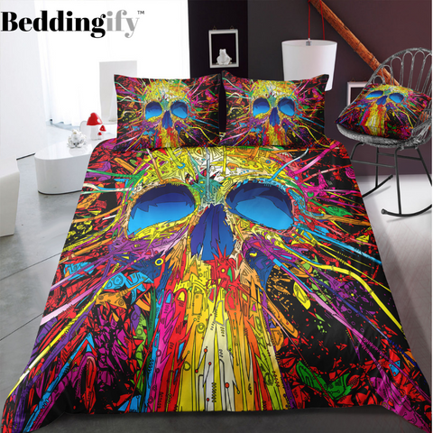 A4 Skull Bedding Set - Beddingify