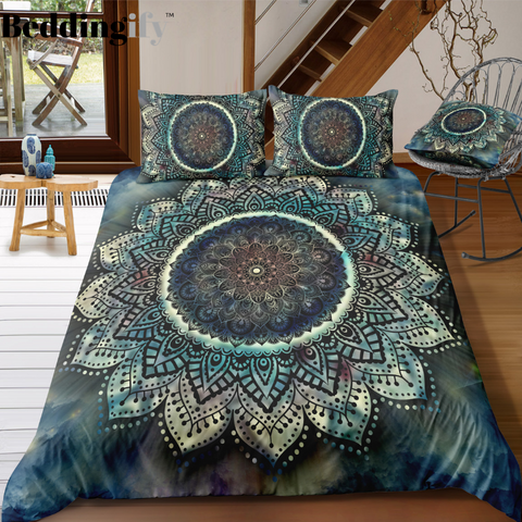 Magical Mandala Pattern Bedding Set - Beddingify