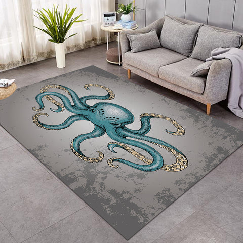 Image of Gray Octopus SW0081 Rug