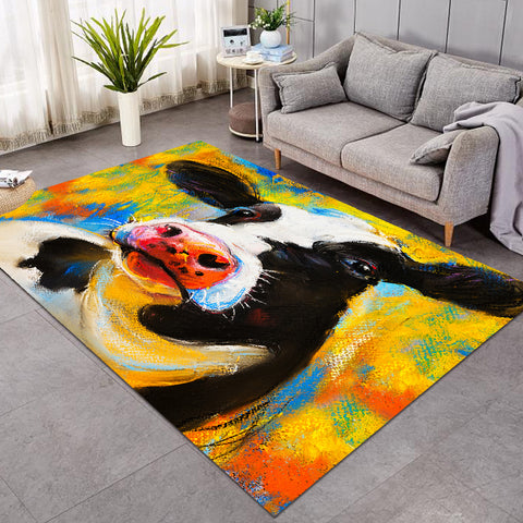 Image of Cow Mugshot White SW0095 Rug