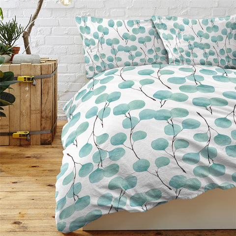 Image of Indigo Small Branches Bedding Set - Beddingify