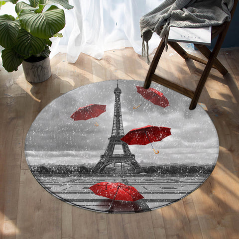 Rainy Paris SW1533 Round Rug