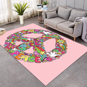 Peace Wreath Pink SW0445 Rug