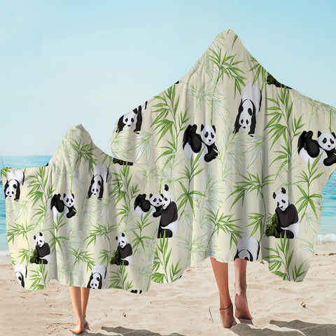 Image of Panda Bamboos Hooded Towel