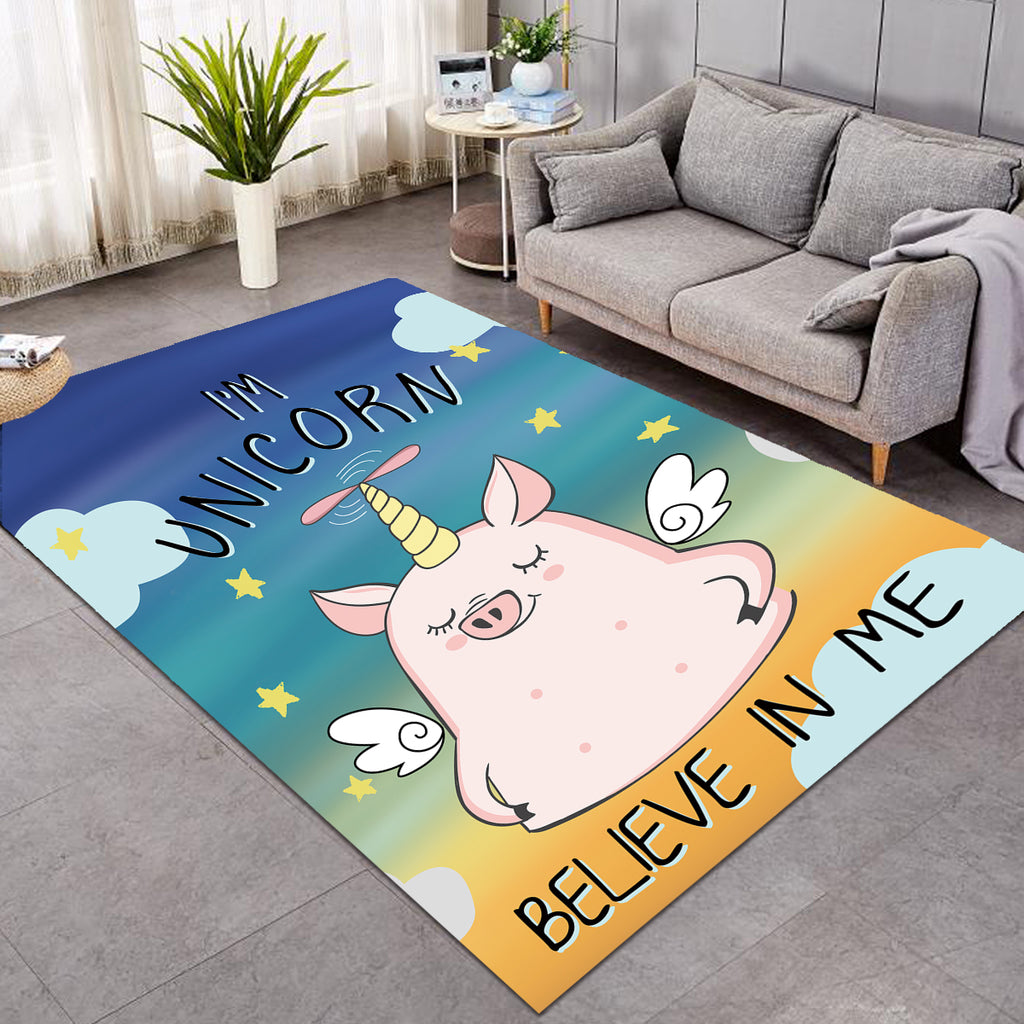 Piggy Unicorn Rug