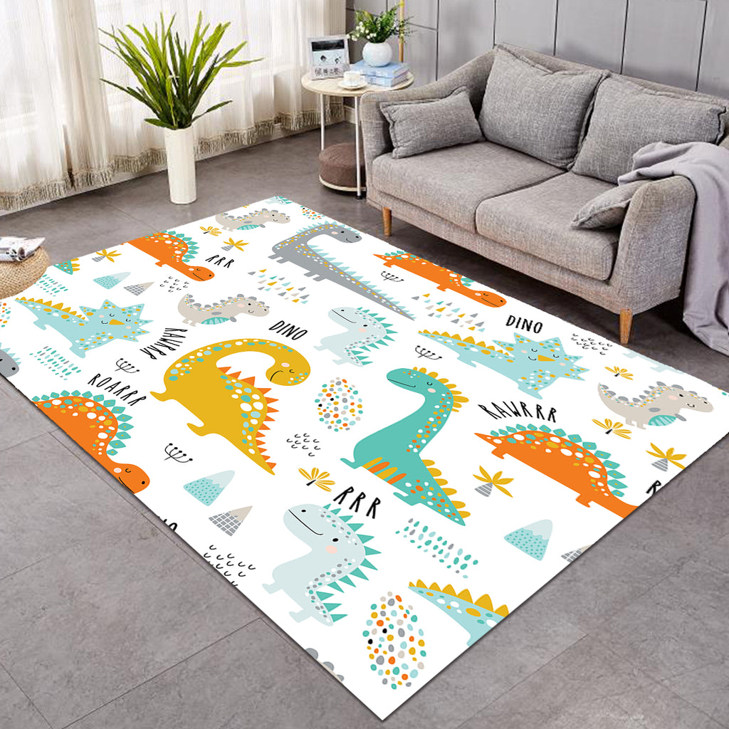 Cartooned DinoThemed SW0872 Rug